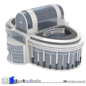 3d model bruxelles european parliament