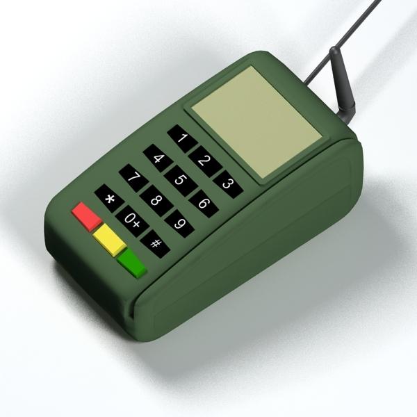 3d credit card reader model