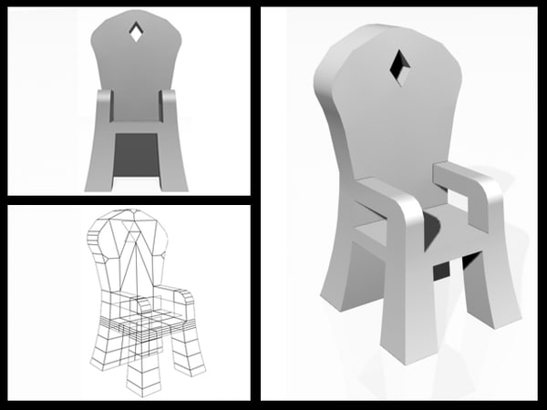 3d chair exotic