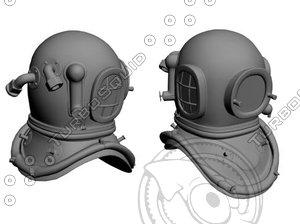 3d diving helmet model