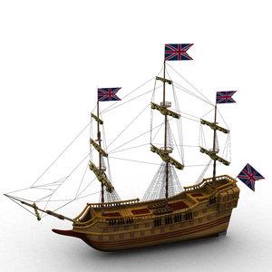 3d model galleon