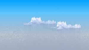 ice iceberg 3d model