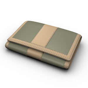 leather wallet 3d max