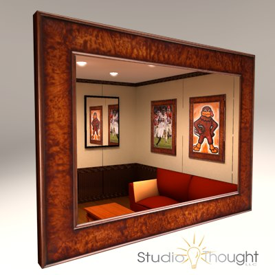 3dsmax wood picture frame mirror