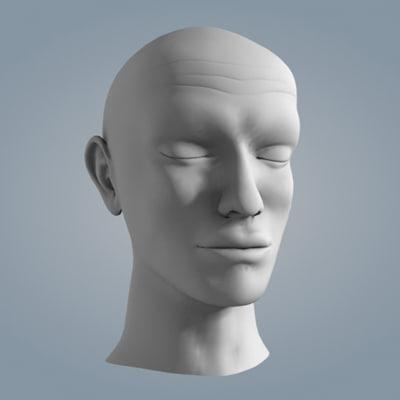 man face 3d model