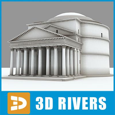 pantheon rome famous 3d model