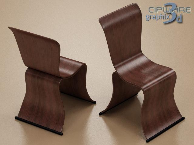 3ds modern design chair 1