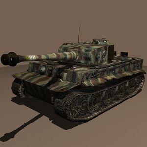 3d panzer vi tiger ausf