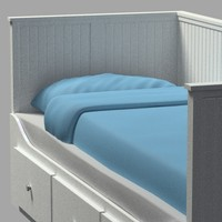 bed hemnes ikea 3d 3ds