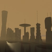 sci-fi buildings 3d max
