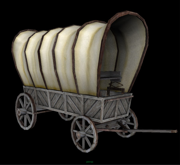 3d wild west covered wagon model