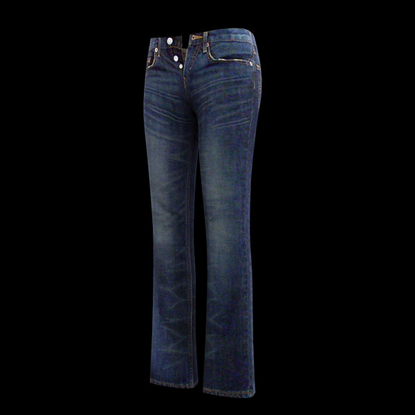 women jeans 3d model