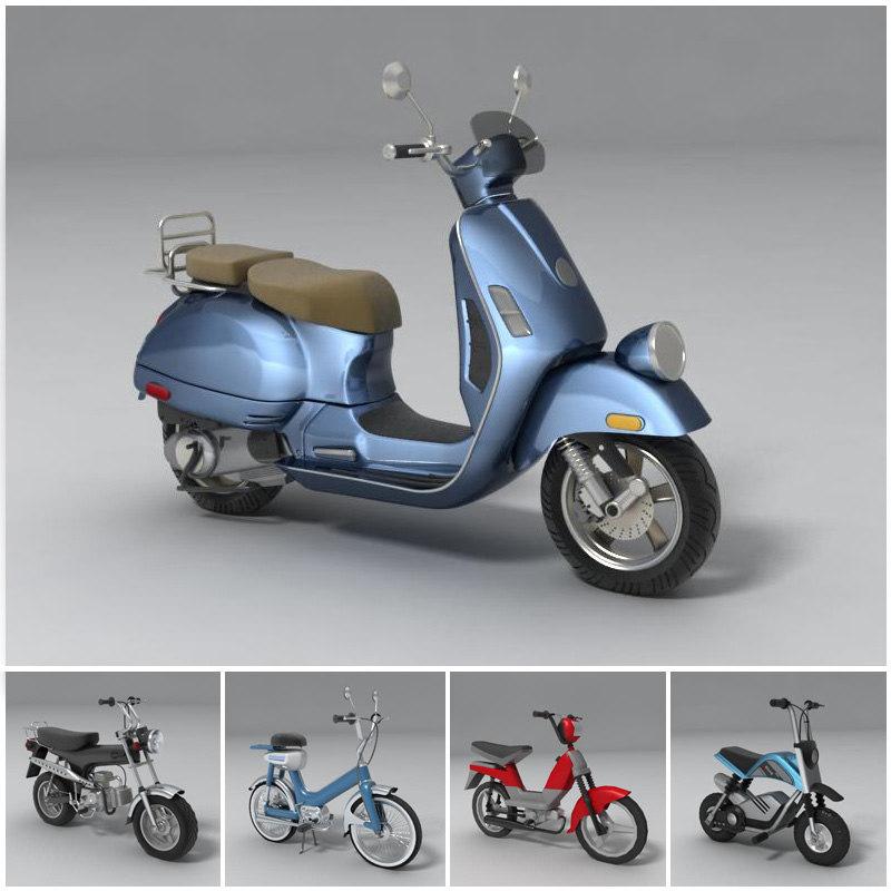 street bikes modeled 3d model