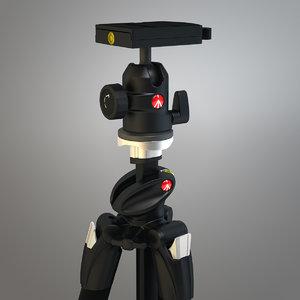 pro tripod manfrotto 3d model