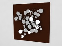 Wall art mirror