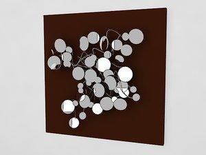 3ds max wall art mirror