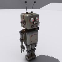 3dsmax retro robot