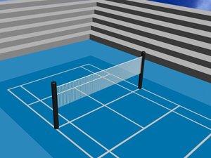 tennis court tenniscourt 3d max