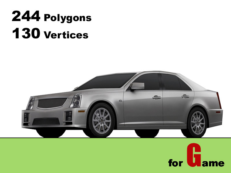 cadillac sts-v 3d 3ds
