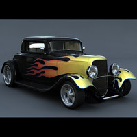 1932 coupe hot rod 3d model