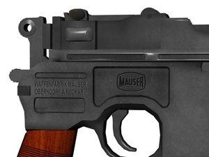 thompson gun mauser red 3d obj