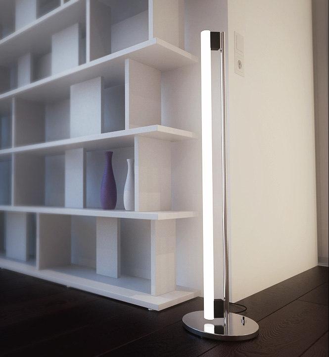eileen gray tubelight 3d model