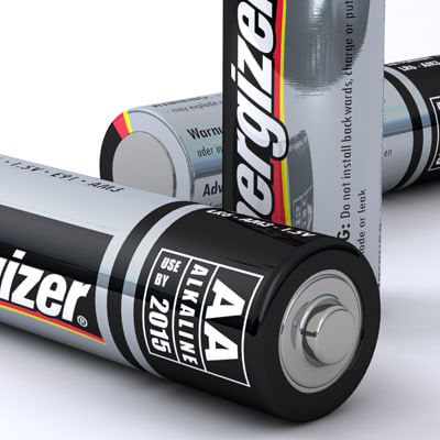 aa energizer battery 3d 3ds