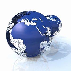 3d model globe