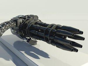 gatling gun - 3d model