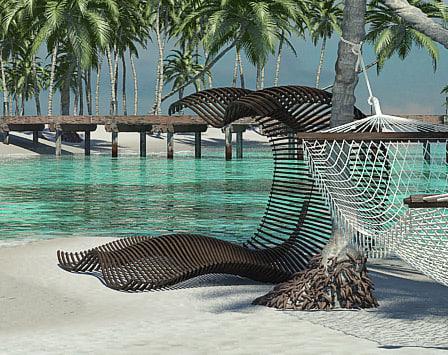 obj beach lounge chair