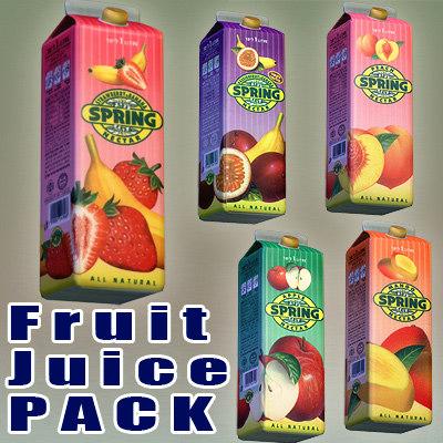 spring fruit juice 3d max