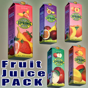 spring fruit juice 3d max