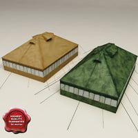 3d model military tents v1