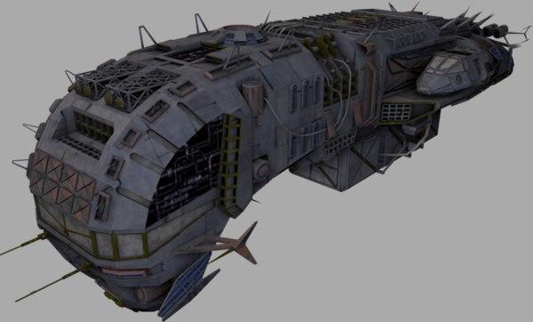 free obj model ship morena