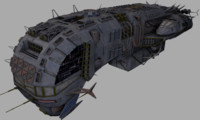 free obj model ship morena