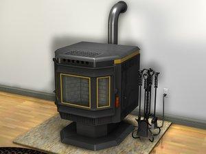 3d pelet stove