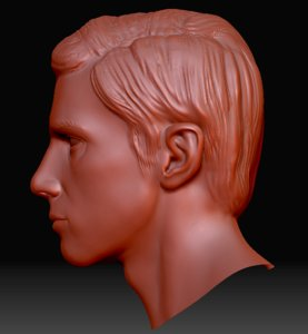 3d 3ds human head zbrush