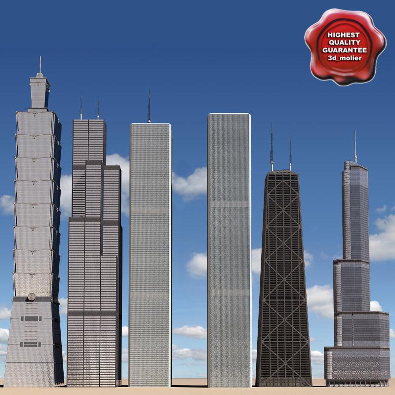 skyscrapers v1 3d max