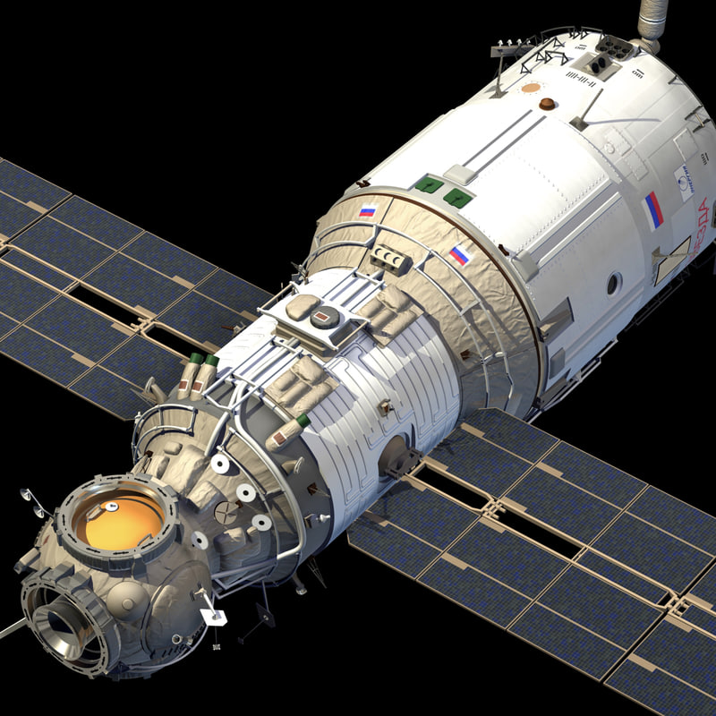 3d model international space station module