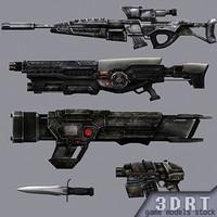 sci-fi firearms 3d model