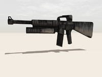 rifle weapon 3d model