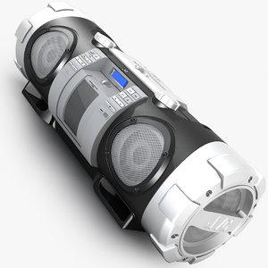 3d model of boombox jvc rv-nb50
