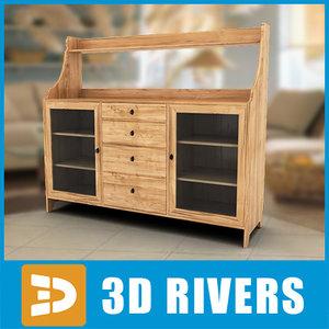 3d lightwood cabinet model