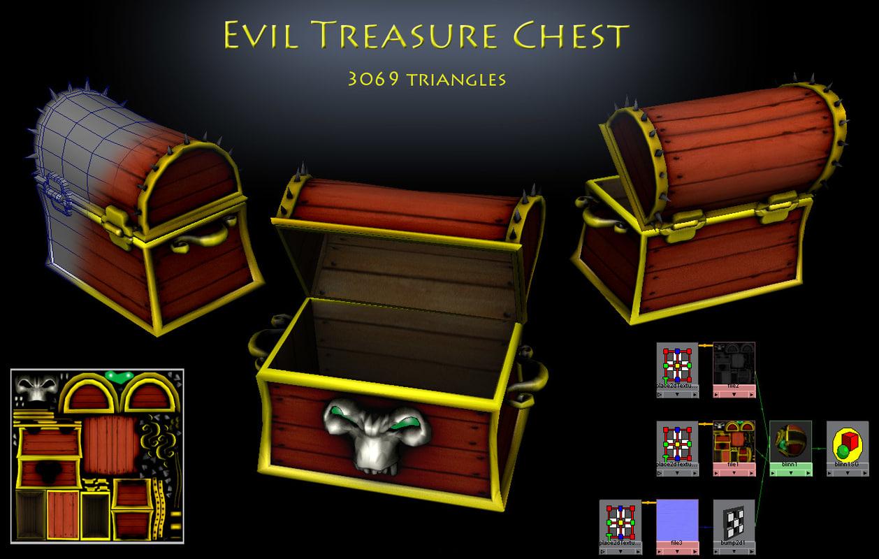 evil treasure chest obj