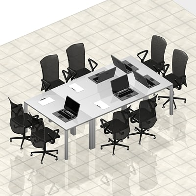 chairs table 3d max