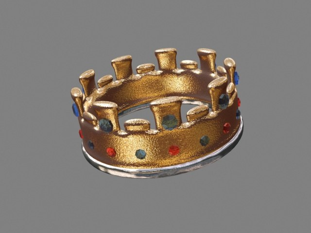 3d model crown gems