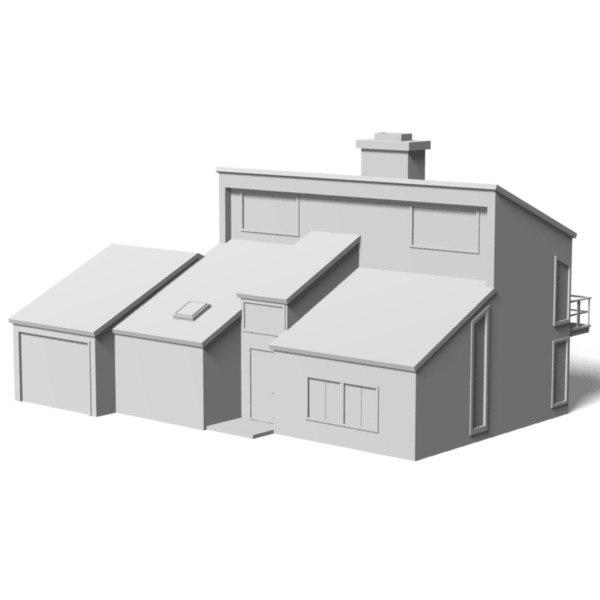 3d modern story house
