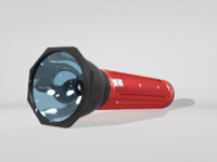 free flash light 3d model