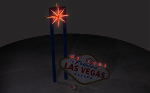 3d model of las vegas welcome sign