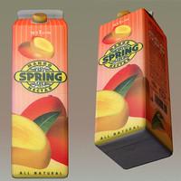 3d mango juice model